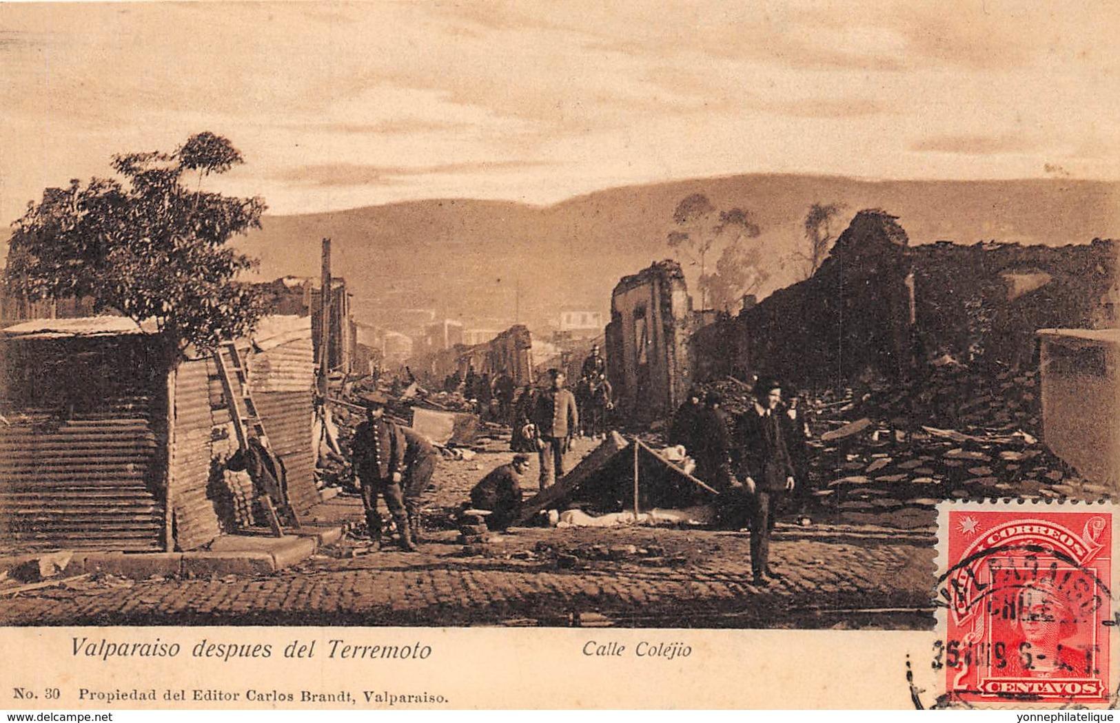 Chili - Valparaiso - Oblitérations / 20 - Calle Colejio - Chile
