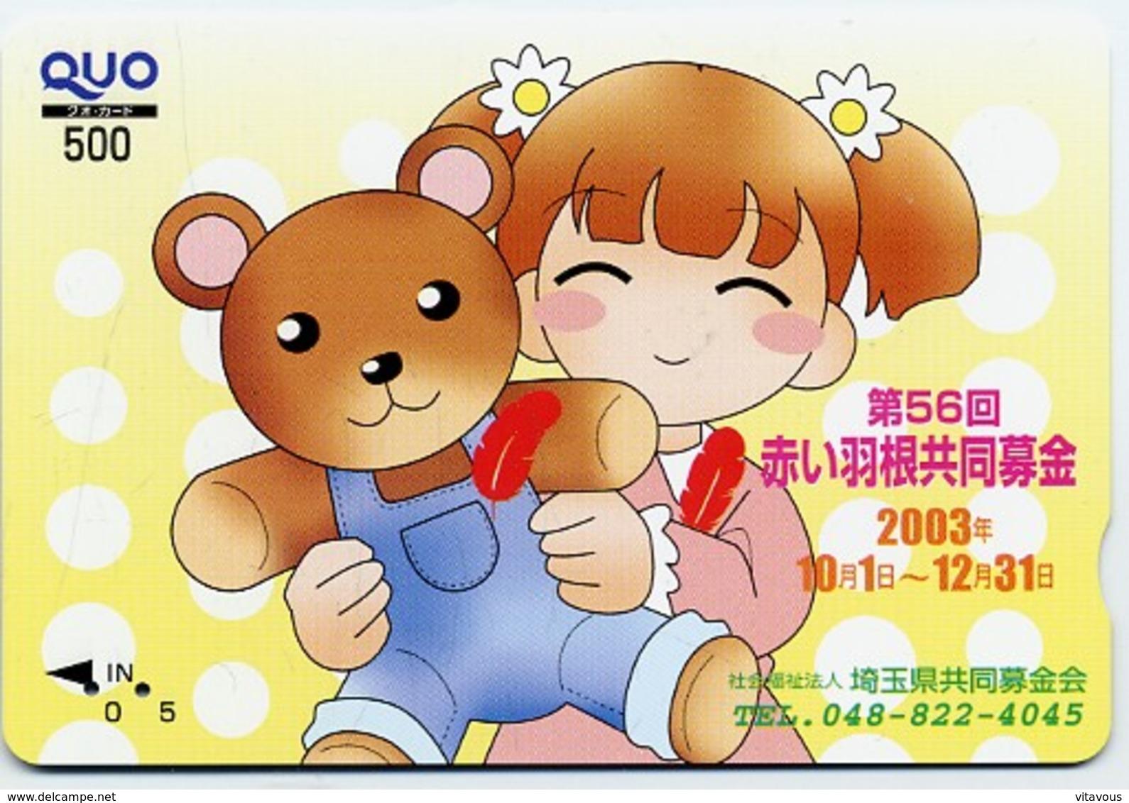 Nounours Bear  Teddy Jeu Peluche Carte Prépayée Japon Card Karten  (G 680) - Jeux