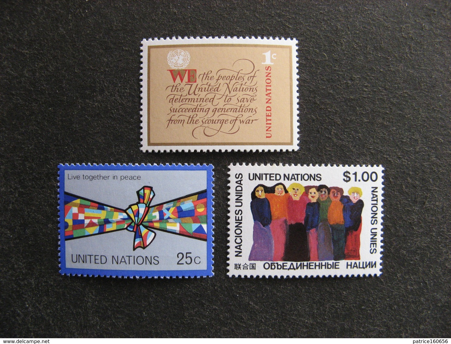 O.N.U. Siège De New-York: TB Série N° 283 Au N° 285, Neufs XX. - New York -  VN Hauptquartier