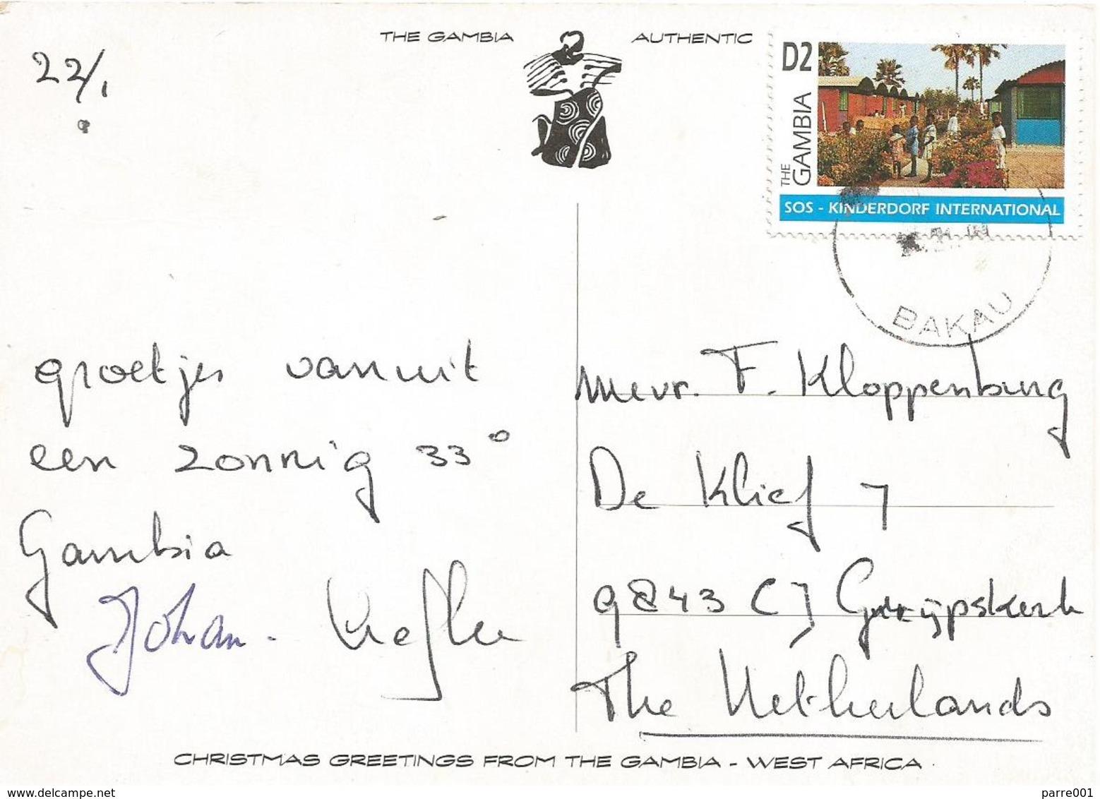 Gambia 1996 Bakau SOS Kinderdorf Children's Village Viewcard - Gambia (1965-...)