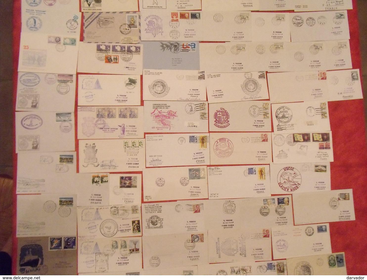 TC8 / RARE Collection  De 235 Enveloppes Oblitérées Ayant Voyagées Thème Polaire Divers Monde (nombreuses Thématiques ) - Philatélie Polaire