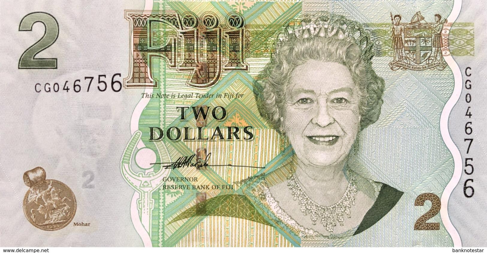 Fiji 2 Dollars, P-109a (2007) - UNC - Fidji