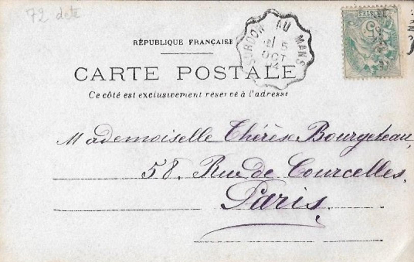 72  LE  CHALET  (  ?  )  :  DERAILLEMENT  D' UN  TRAIN  ENTRE  SCEAUX  ET  CONNERE  .  OCTOBRE  1904  .  CARTE  PHOTO  . - France
