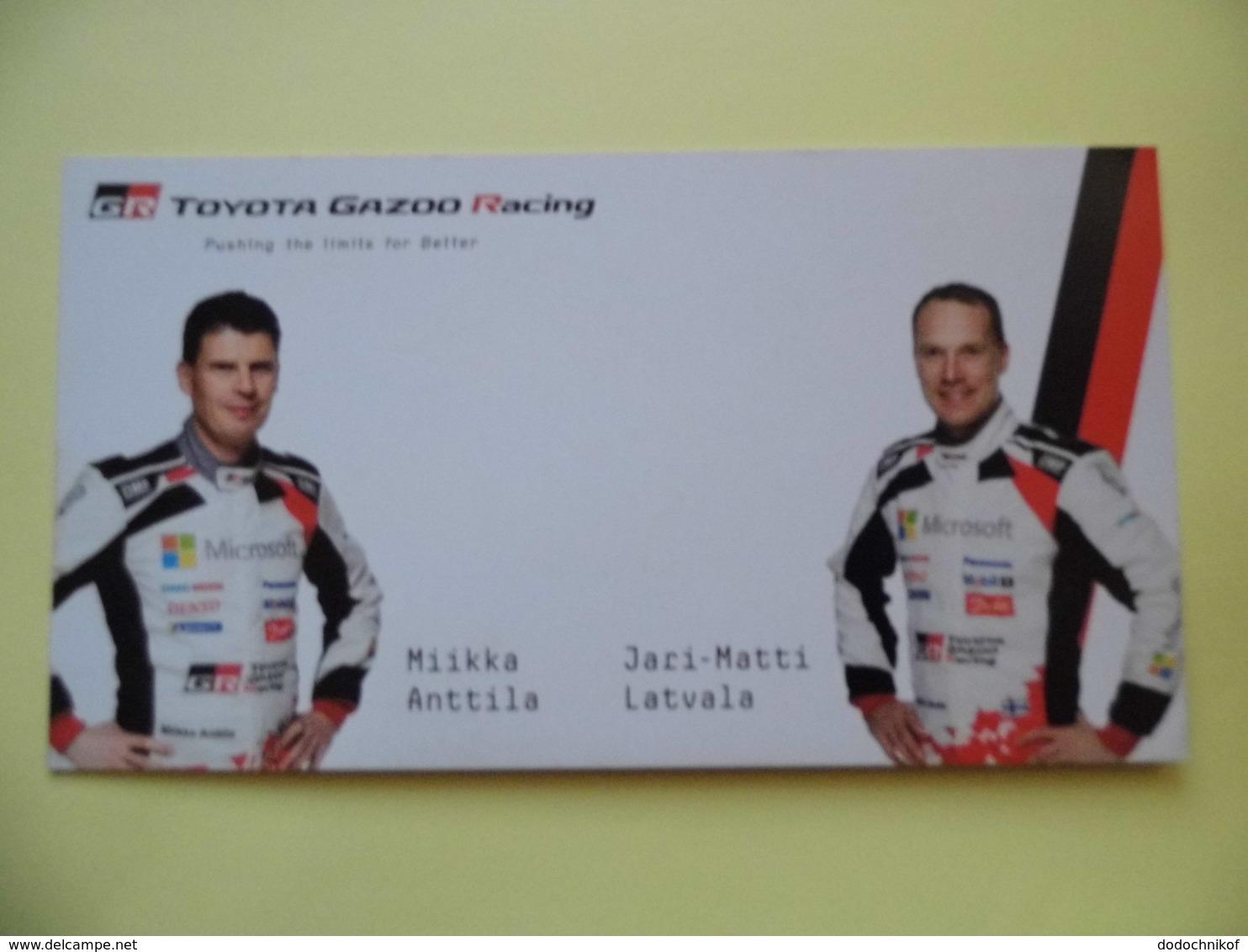 WRC - Carte  -  Team Toyota Gazoo Racing - Latvala- Anttila  - Dim 20* 10.5 Cm - Automobile - F1