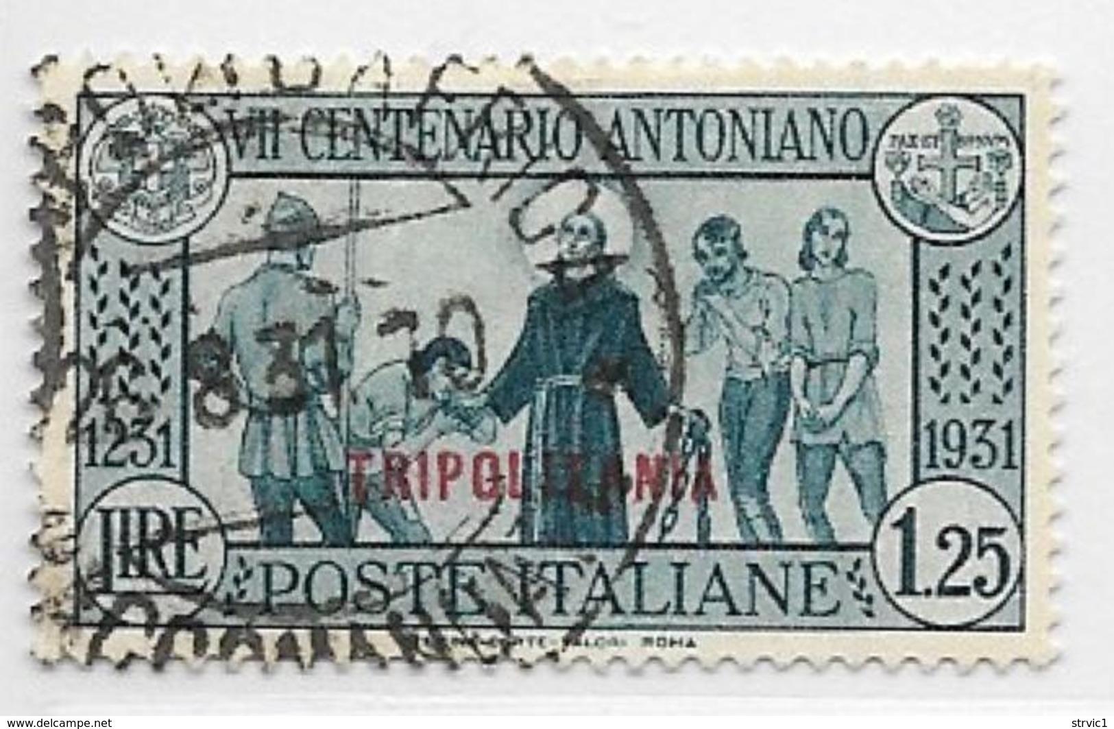 Tripolitania, Scott # 56 Used Italy Saint Anthony Issue Overprinted, 1931, CV$37.50 - Tripolitania