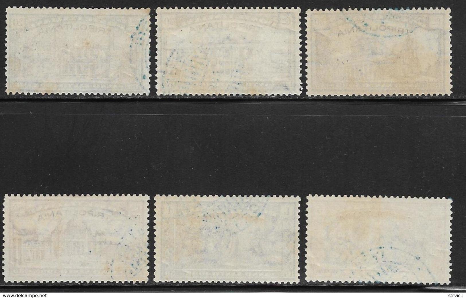 Tripolitania, Scott # B1-6 Used Italy Holy Year Issue Overprinted, 1925, CV$194.00 - Tripolitania