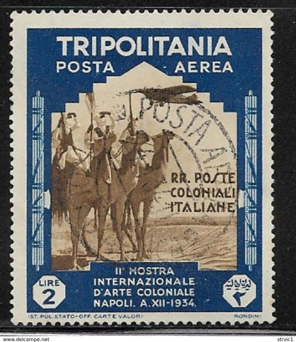 Tripolitania, Scott # C48 Used Camel Corps, 1934, CV$45.00 - Tripolitania