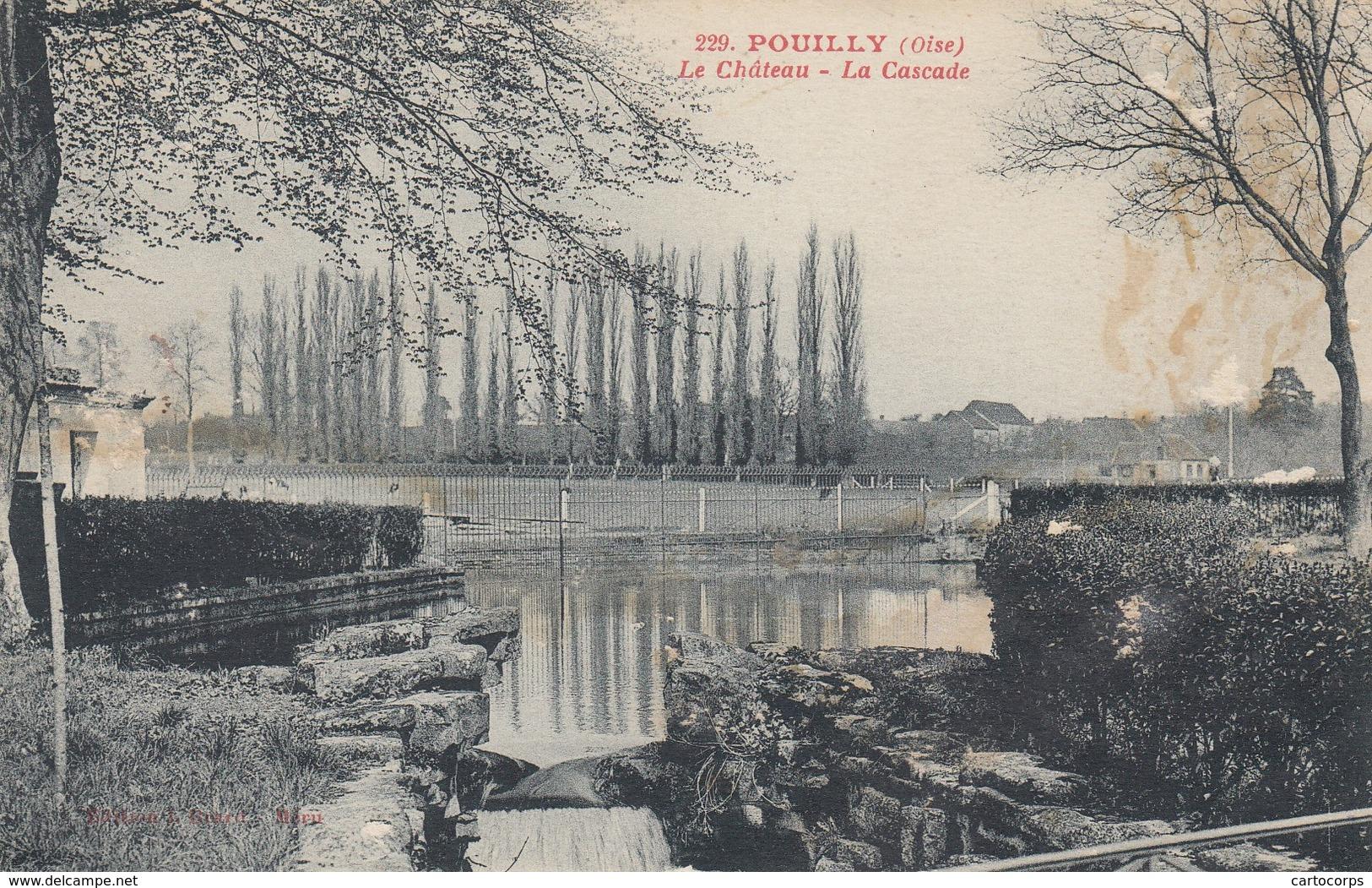 60 - Oise - Pouilly - Le Château - La Cascade - Frankrijk
