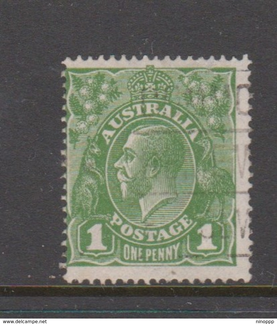 Australia SG 76 1924 King George V,1d Green,Single Watermark, Used - Used Stamps