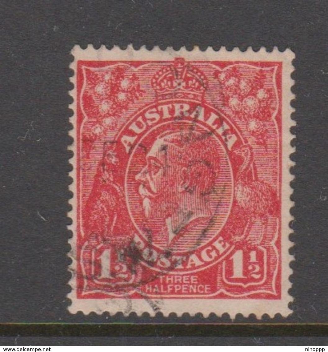 Australia SG 77 1924 King George V,three Half Penny Scarlet,Single Watermark, Used - 1913-36 George V: Heads