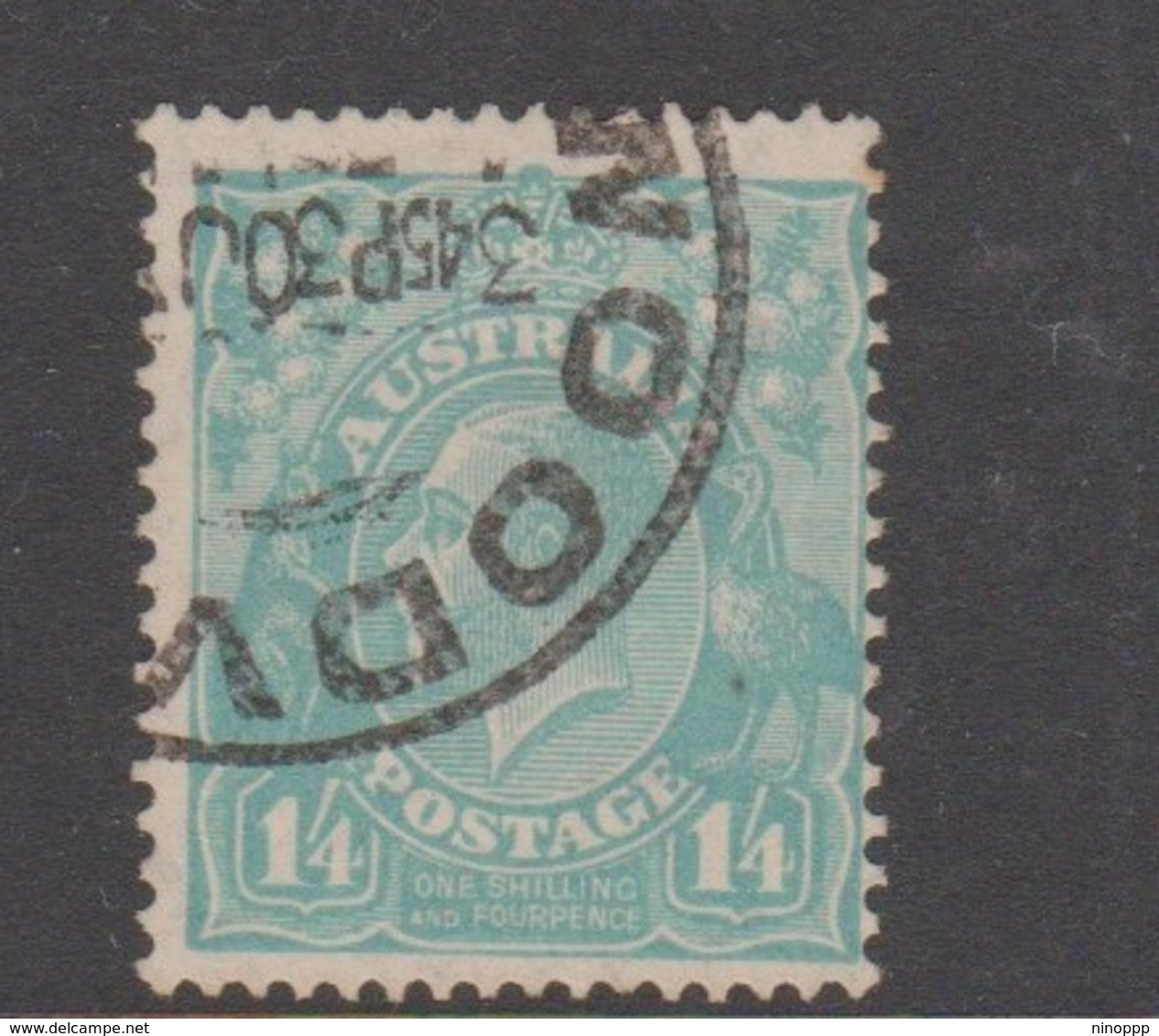 Australia SG 131 1932 King George V,1sh And 4d Turquoise, C Of A Watermark, Used - 1913-36 George V: Heads