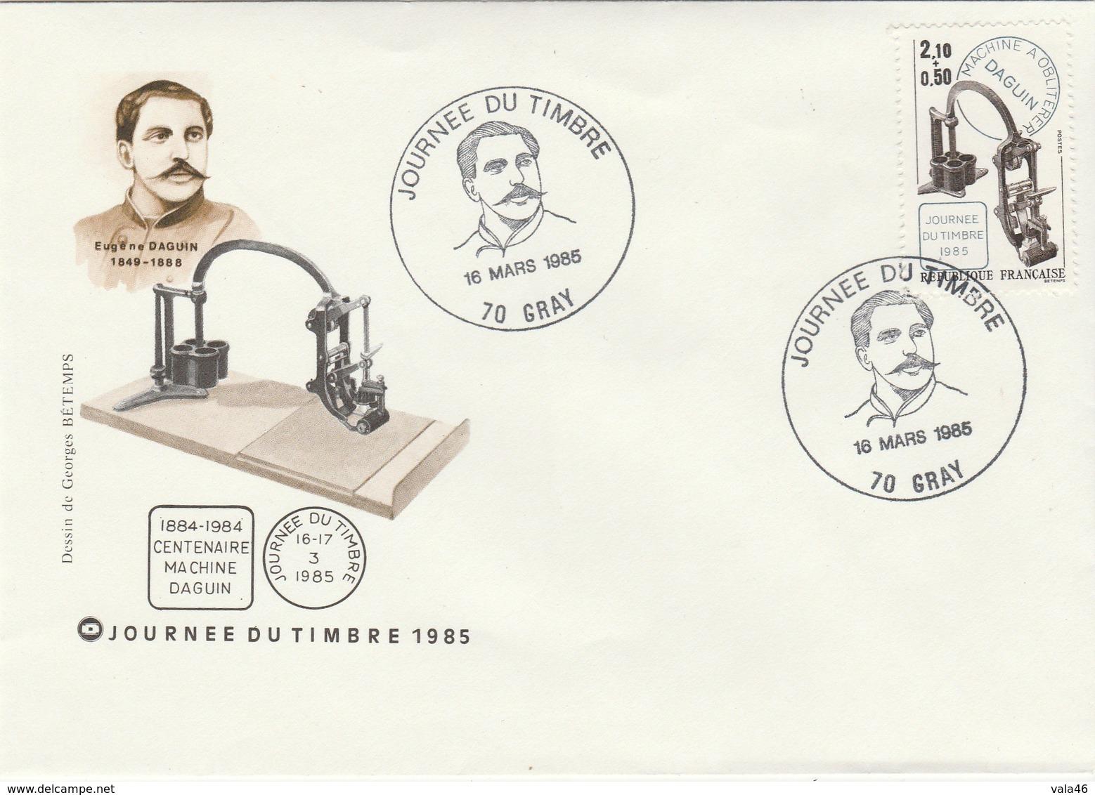 JOURNEE DU TIMBRE   1985    CENTENAIRE  DAGUIN  N°2362 - 1961-....