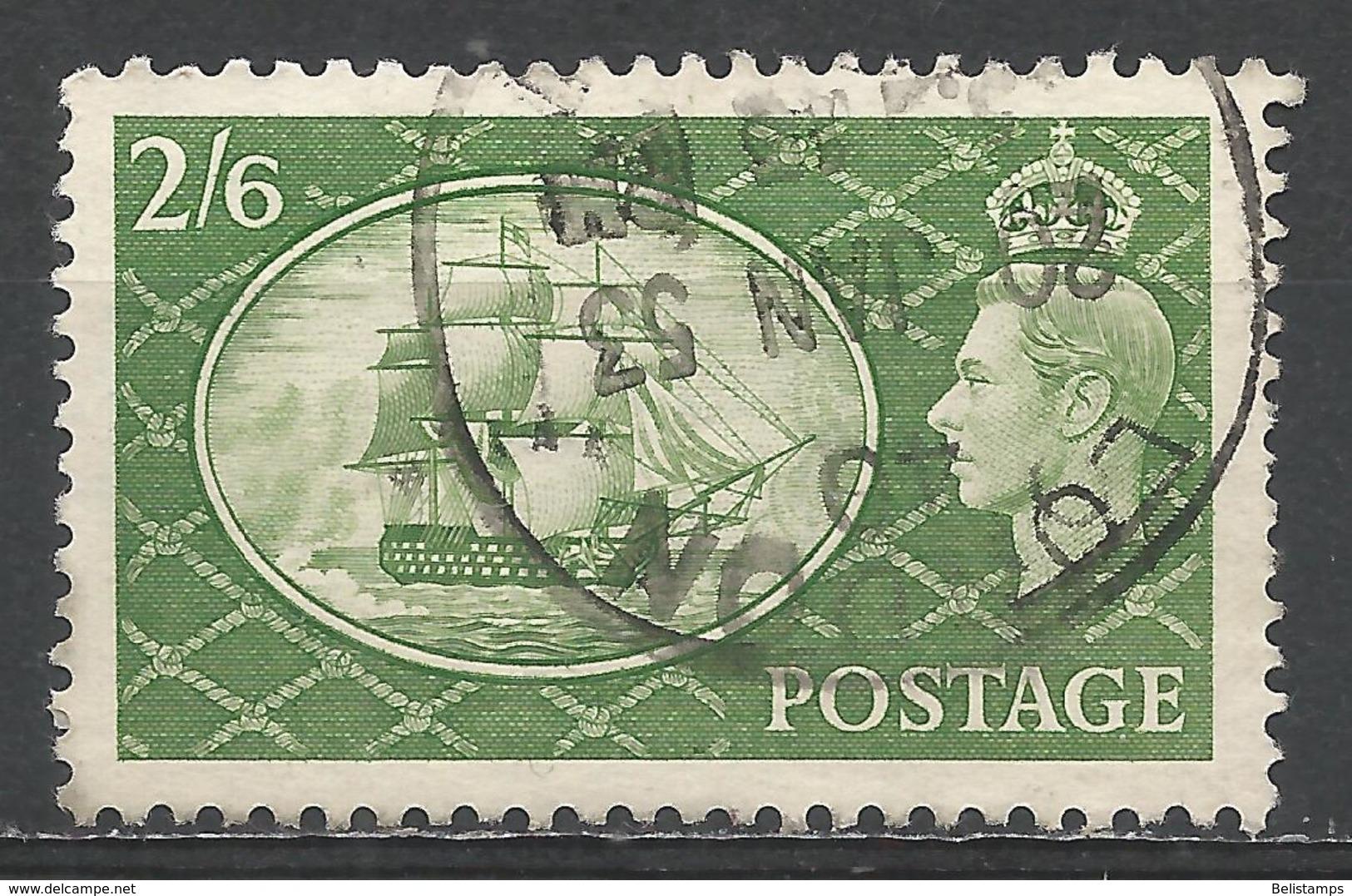 Great Britain 1951. Scott #286 (U) King George VI, H.M.S. Victory * - 1902-1951 (Rois)