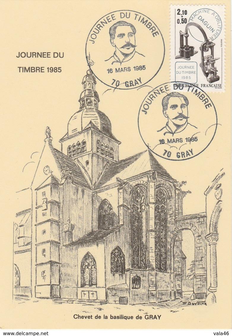 JOURNEE DU TIMBRE   1985    CENTENAIRE  DAGUIN  N°2362  SUR CARTE   - CARTE LOCALE - Marcophilie (Lettres)
