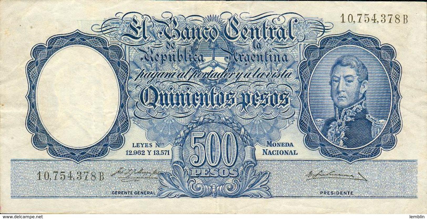 500 PESOS 1954 - Argentine