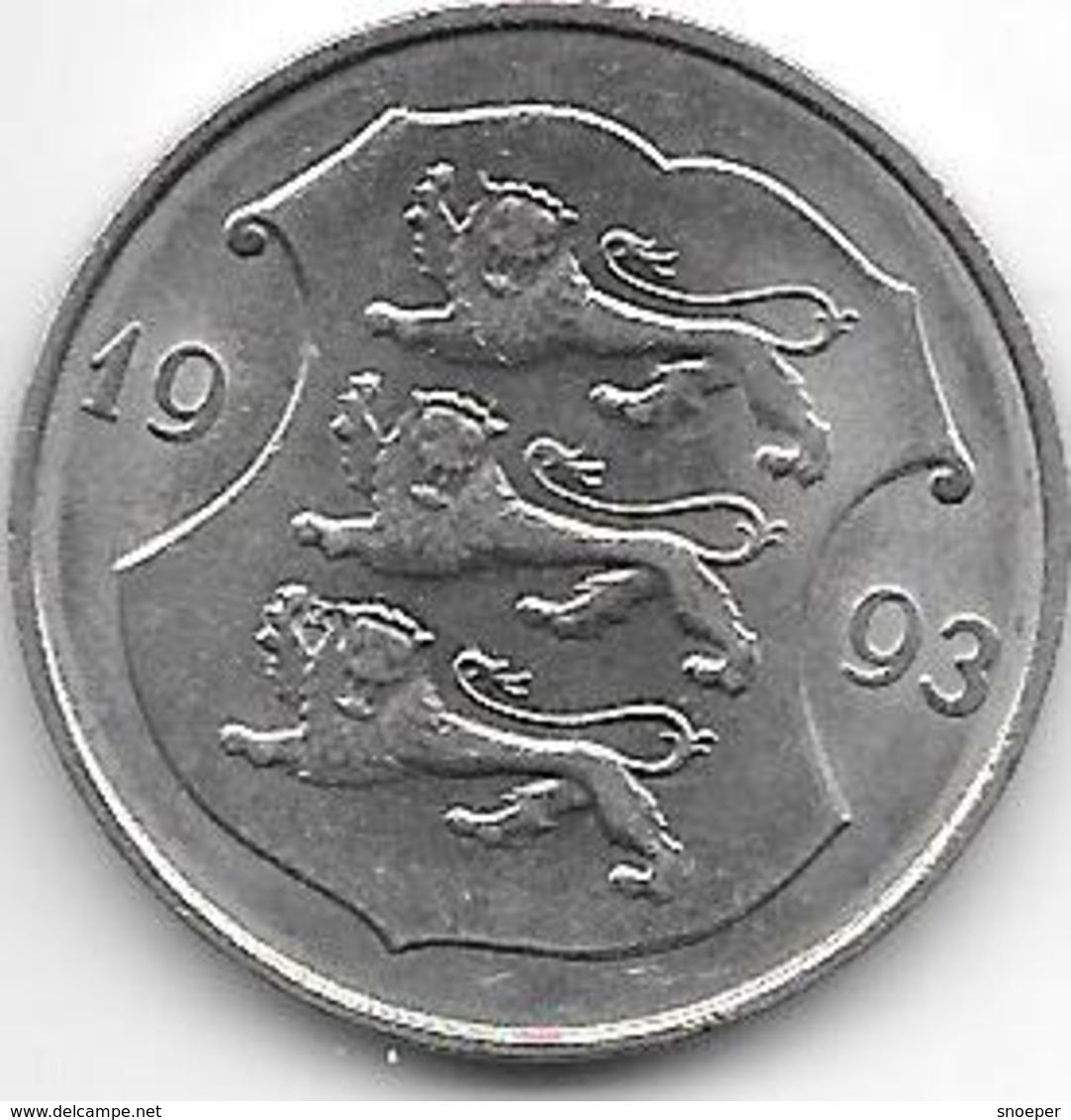 *estonia 1 Kroon 1993 Km 28 XF+ - Estonie