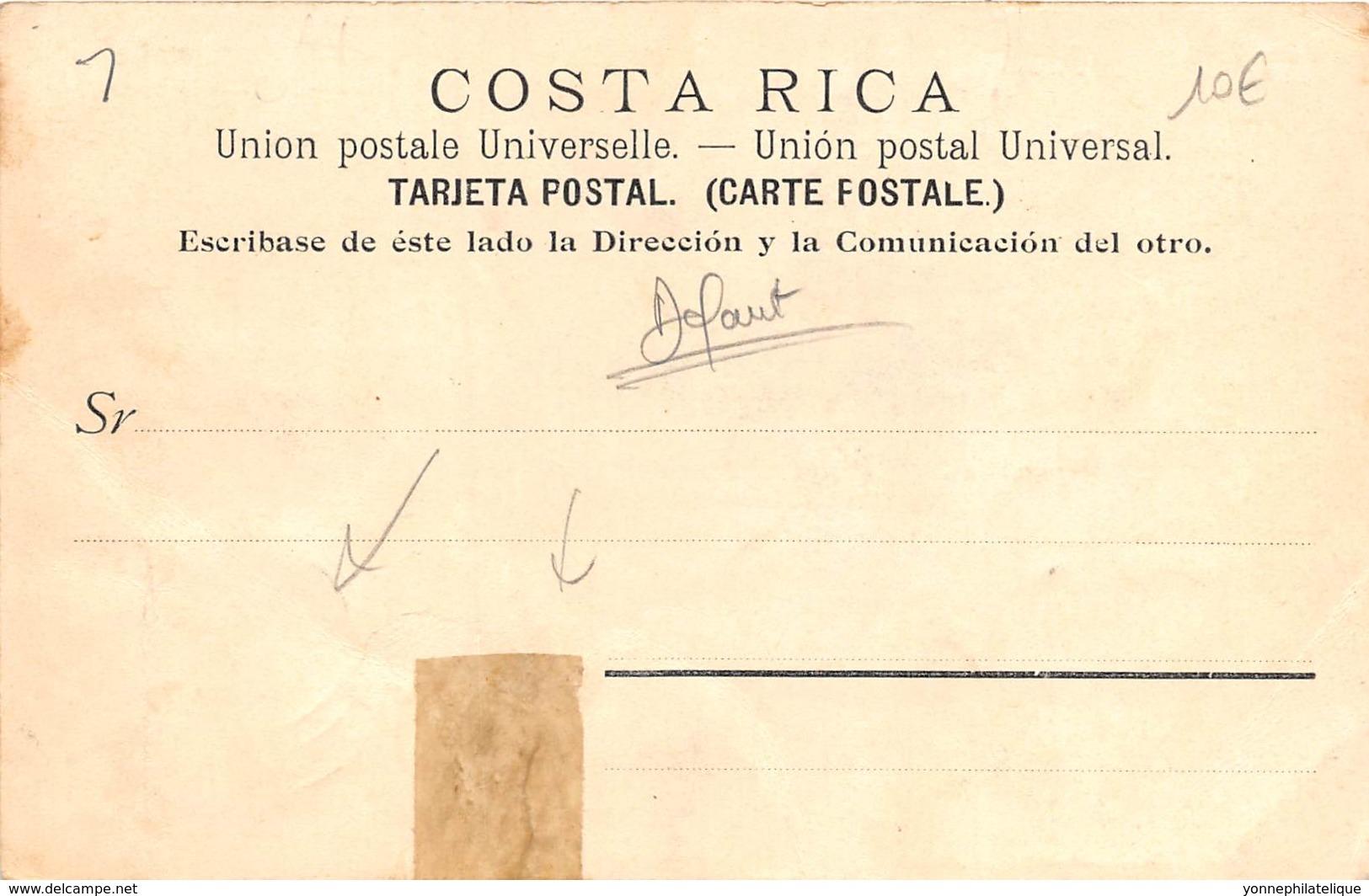 Costa Rica / 01 - Très Beau Cliché - Belle Oblitération - Défaut - Costa Rica