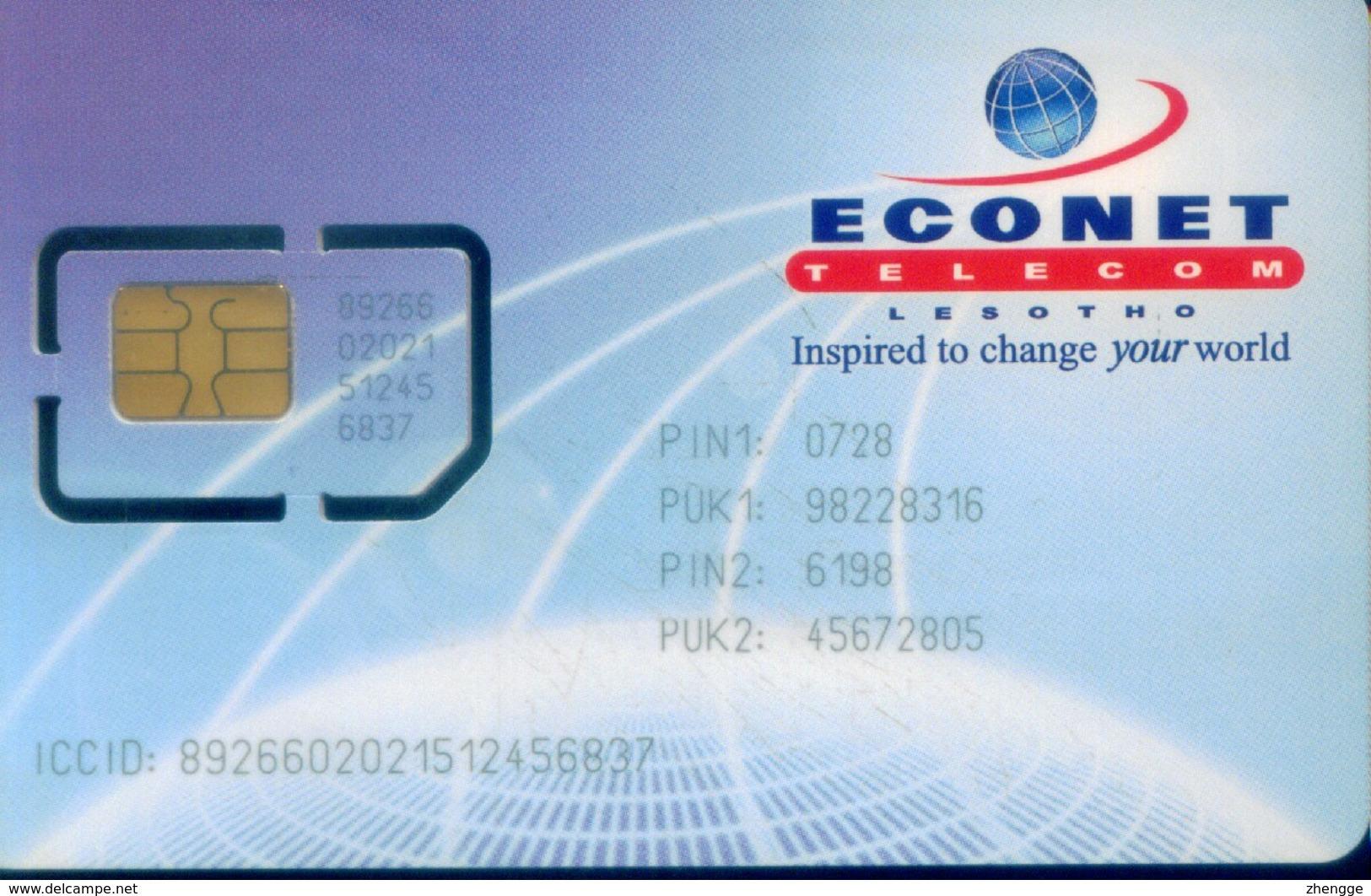 Lesotho GSM SIM Cards, (1pcs,MINT) - Lesotho