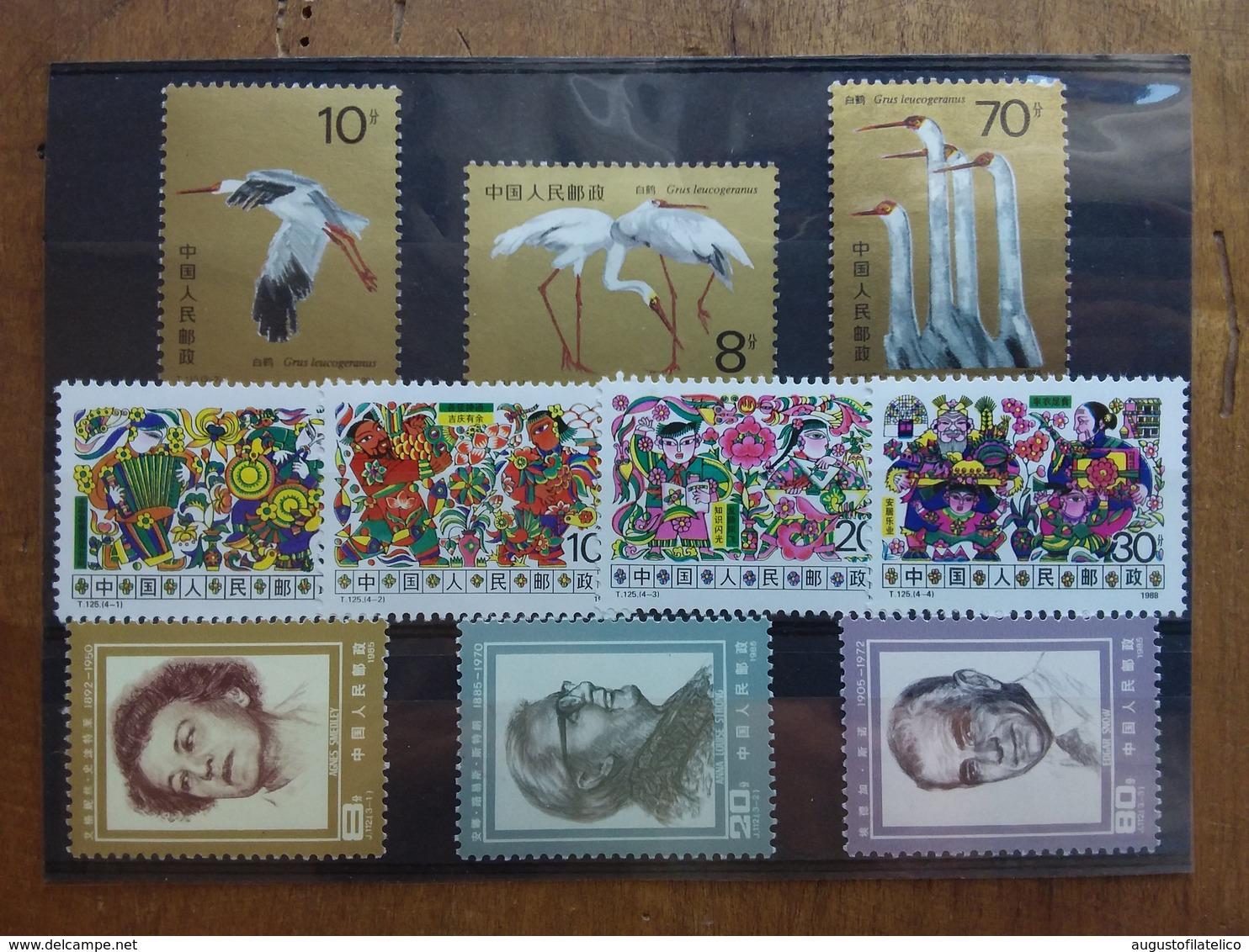 CINA - 3 Serie Anni '80 Nuove ** + Spese Postali - 1949 - ... Repubblica Popolare