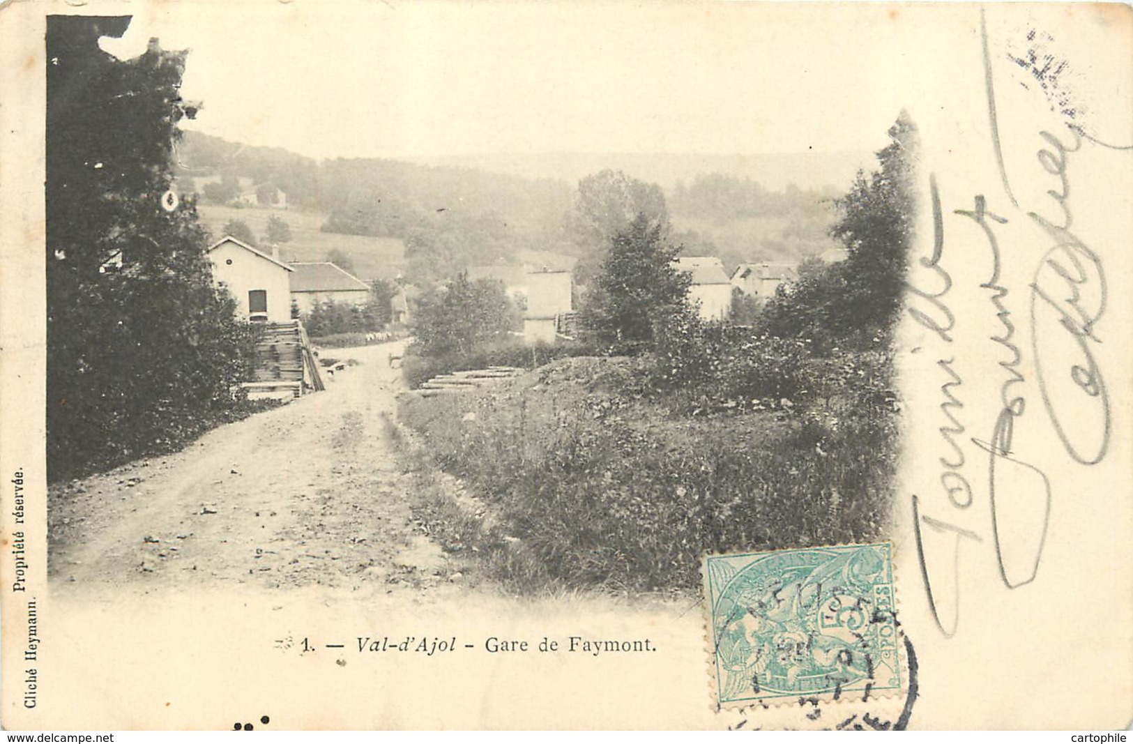 88 - VAL D'AJOL - Gare De Faymont En 1906 - Autres Communes