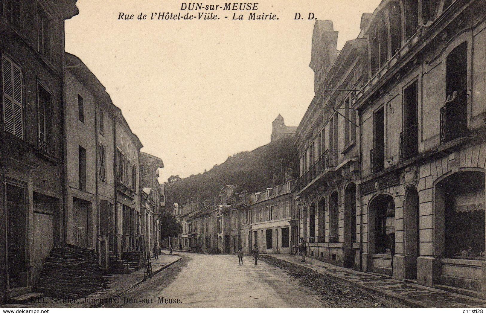 DPT 55 DUN-SUR-MEUSE Rue De L'Hotel De Ville La Mairie - Dun Sur Meuse