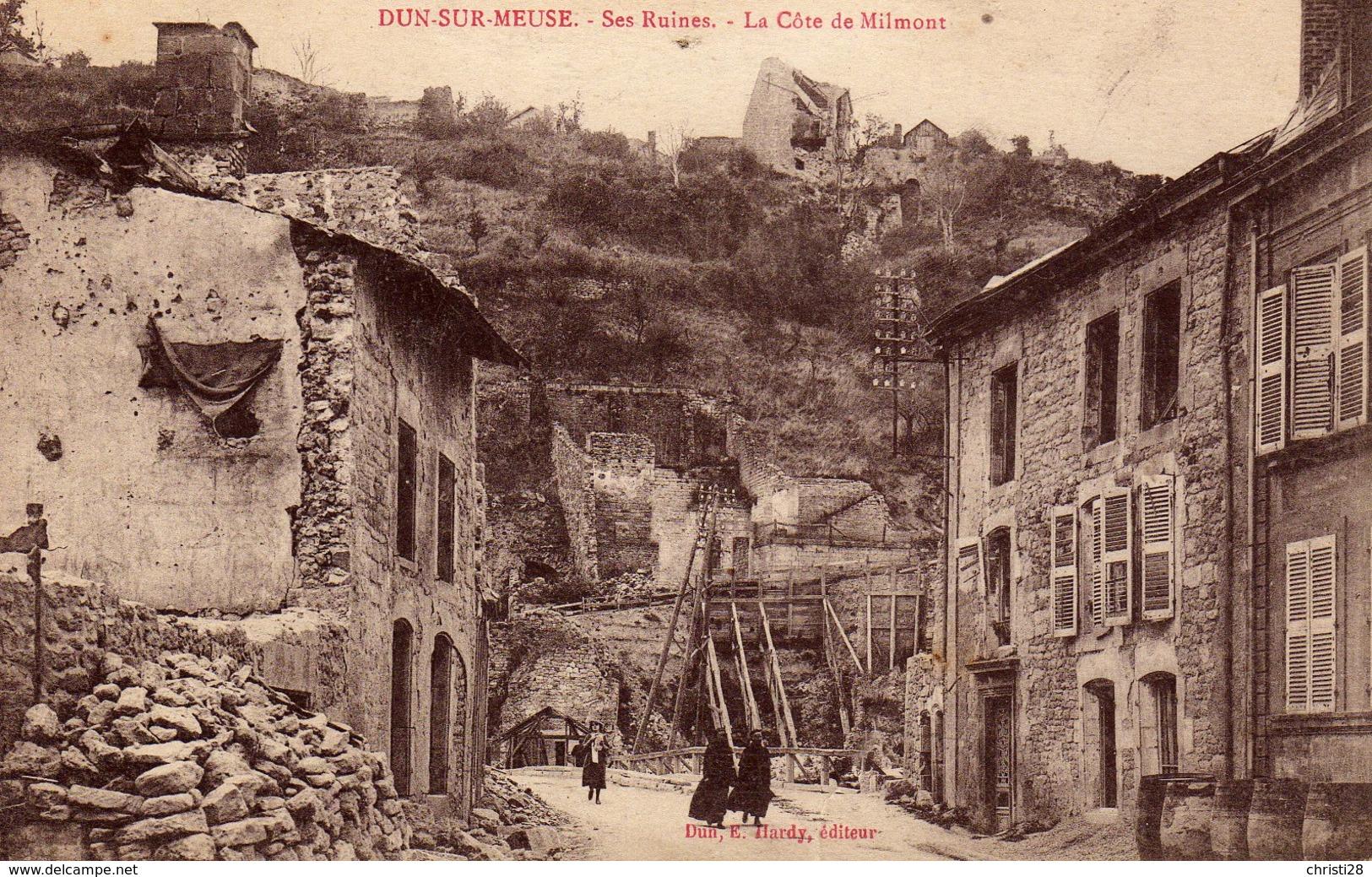 DPT 55 DUN-SUR-MEUSE Ses Ruines La Côte De Milmont - Dun Sur Meuse