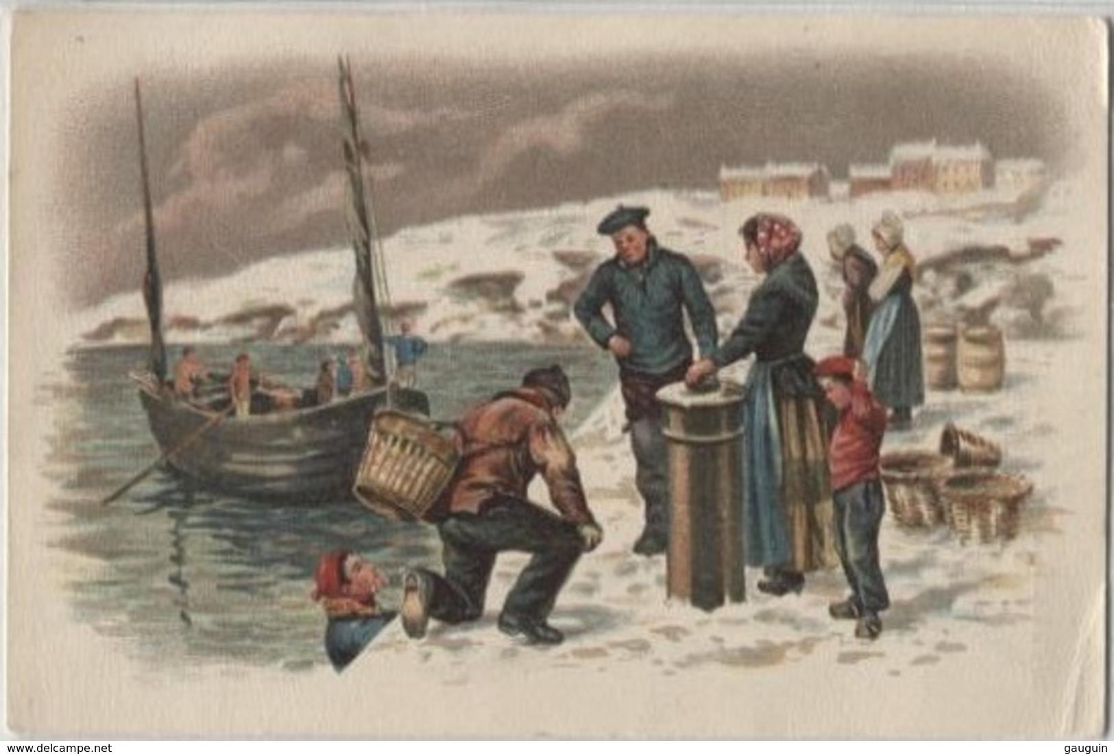 CPA - ILLUSTRATION - Scène De Pêche Débarquement Du Poisson - Edition Pub Phoscao - Pêche