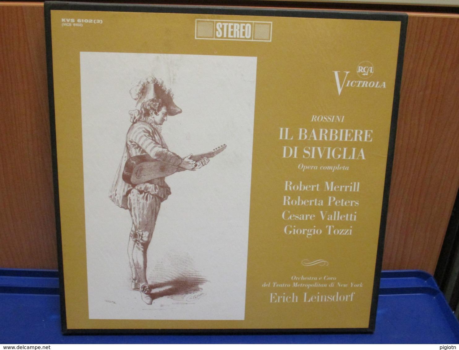 LP008 - COFANETTO 3 LP - IL BARBIERE DI SIVIGLIA - - Oper & Operette