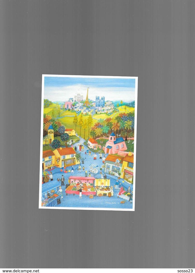 MARIE LINE SULLE PARIS VILLAGE NAÏFS ET PRIMITIFS - Autres Illustrateurs