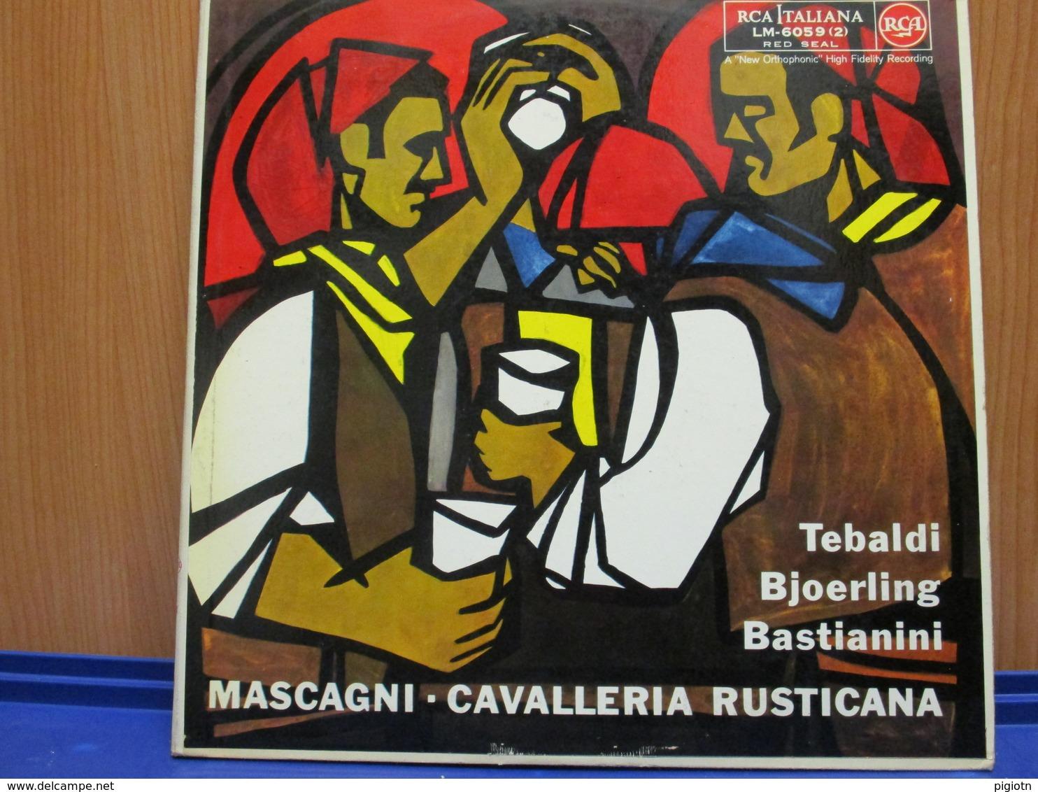 LP016 - COFANETTO 2 LP + LIBRETTO - CAVALLERIA RUSTICANA - - Opera / Operette