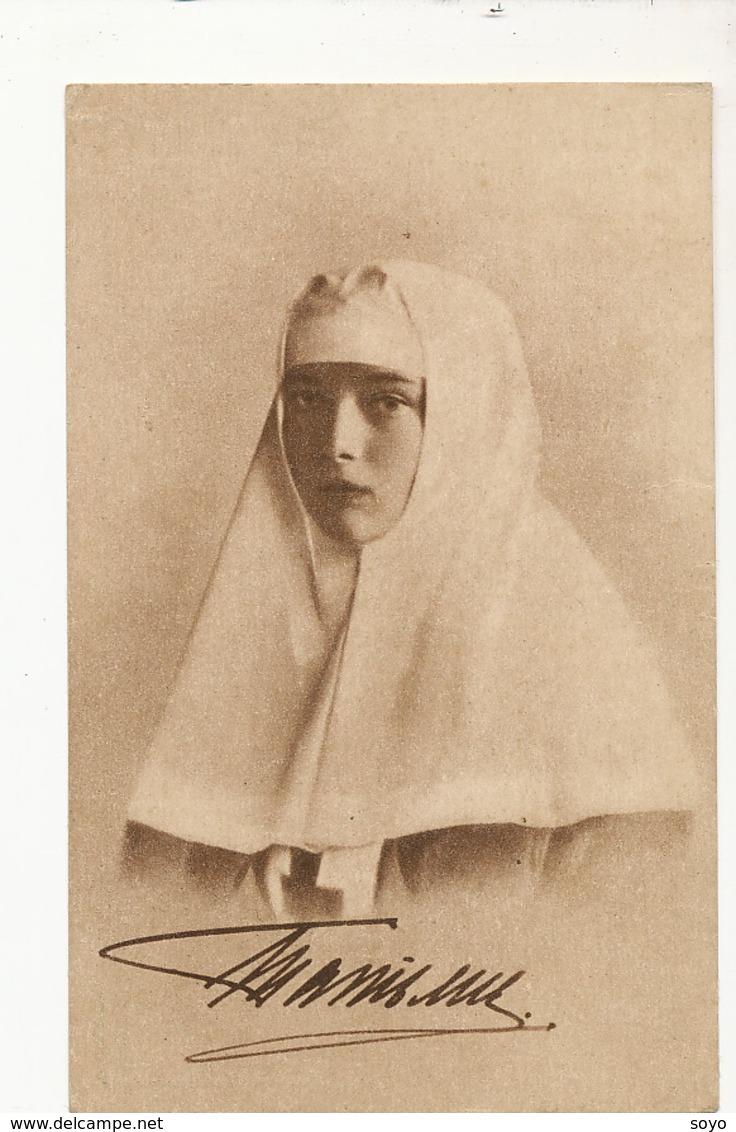 Red Cross Tatiana Daughter Of Tsar Nicolas II Croix Rouge Czar - Croix-Rouge