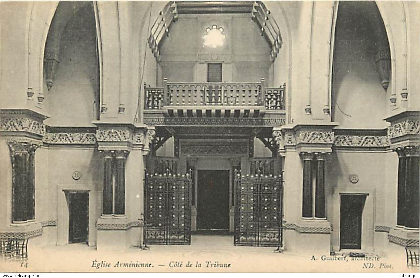 Themes Div-ref Z485- Armenie - Eglise Armenienne  - Carte Bon Etat - - Arménie
