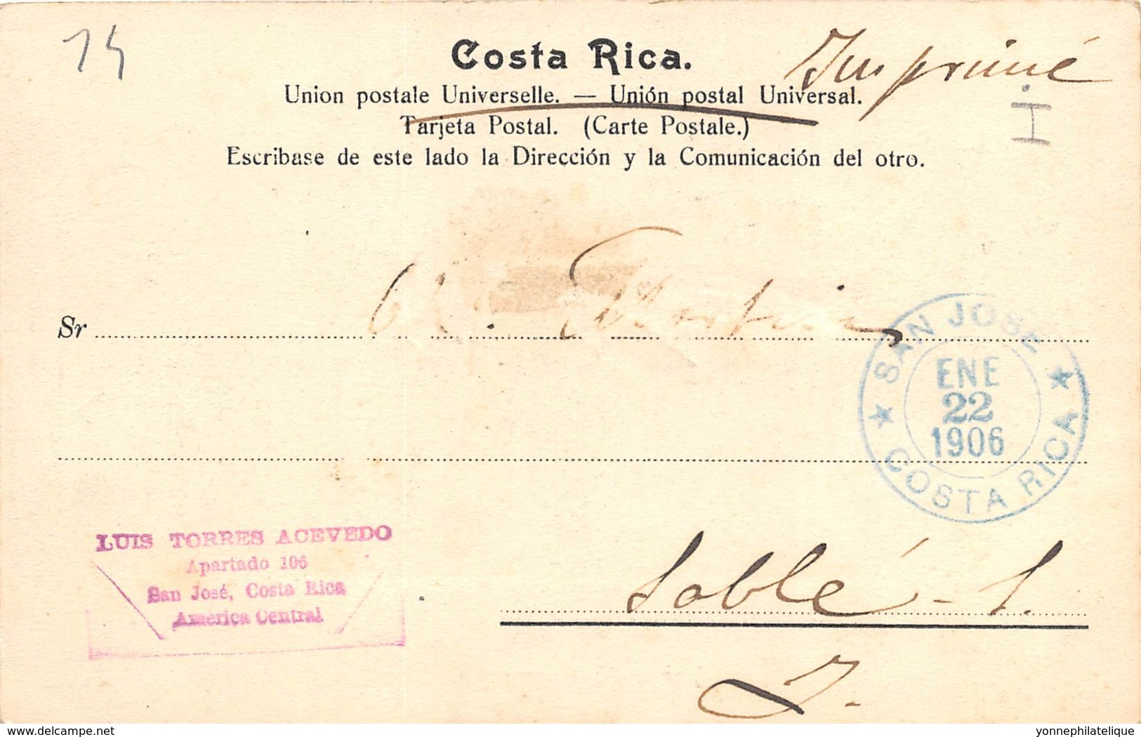 Costa Rica / 14 - Indios De Talamanca - Belle Oblitération - Costa Rica