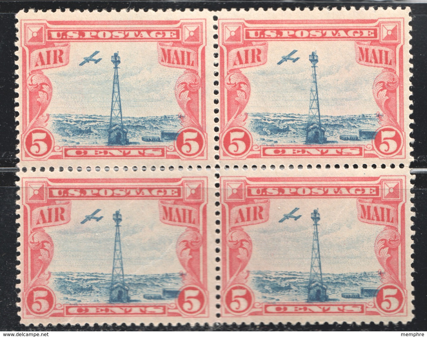 1928  Beacon On Rocky Mountains Block Of 4 - 2MH, 2 MNH  Sc C11 - Air Mail