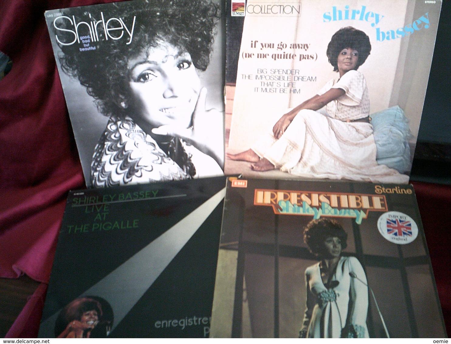 SHIRLEY BASSEY    °  COLLECTION DE 8 DISQUES VINYLES 33 TOURS - Vollständige Sammlungen