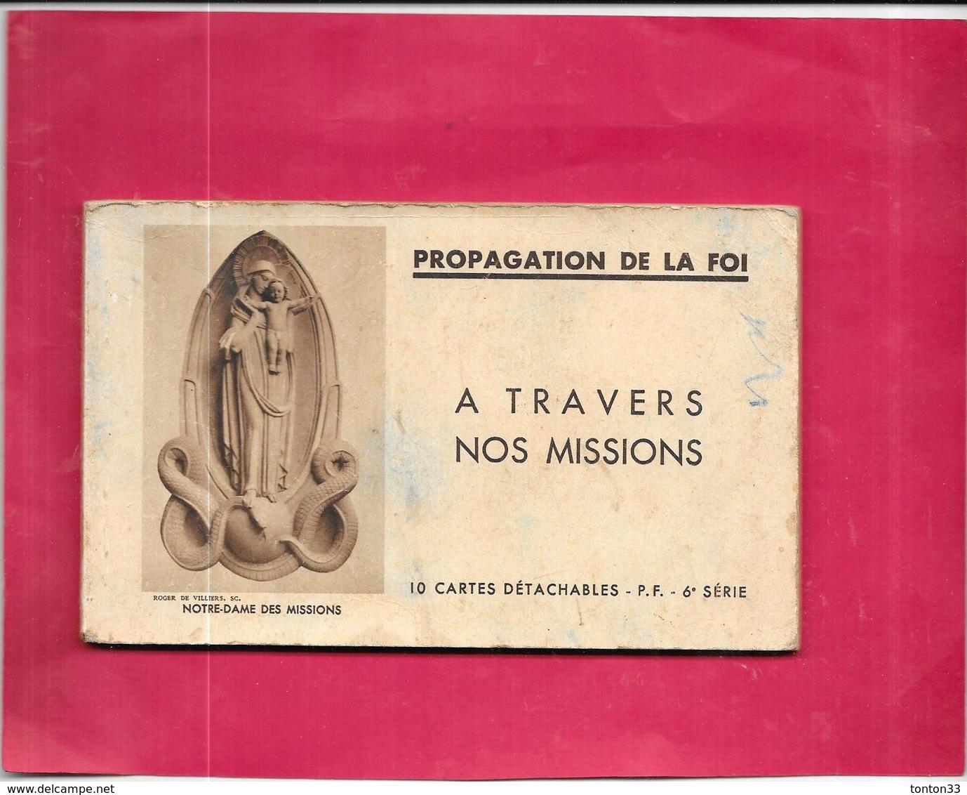 ASIE - CARNET De 9 Cartes - PROPAGATION DE LA FOI - A TRAVERS NOS MISSIONS 6ème Série - DELC7 - - Cartes Postales
