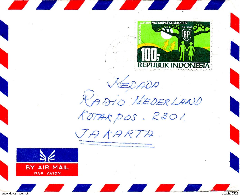 INDONESIE. N°937 De 1982 Sur Enveloppe Ayant Circulé. Assurance Bumiputra. - Indonesia