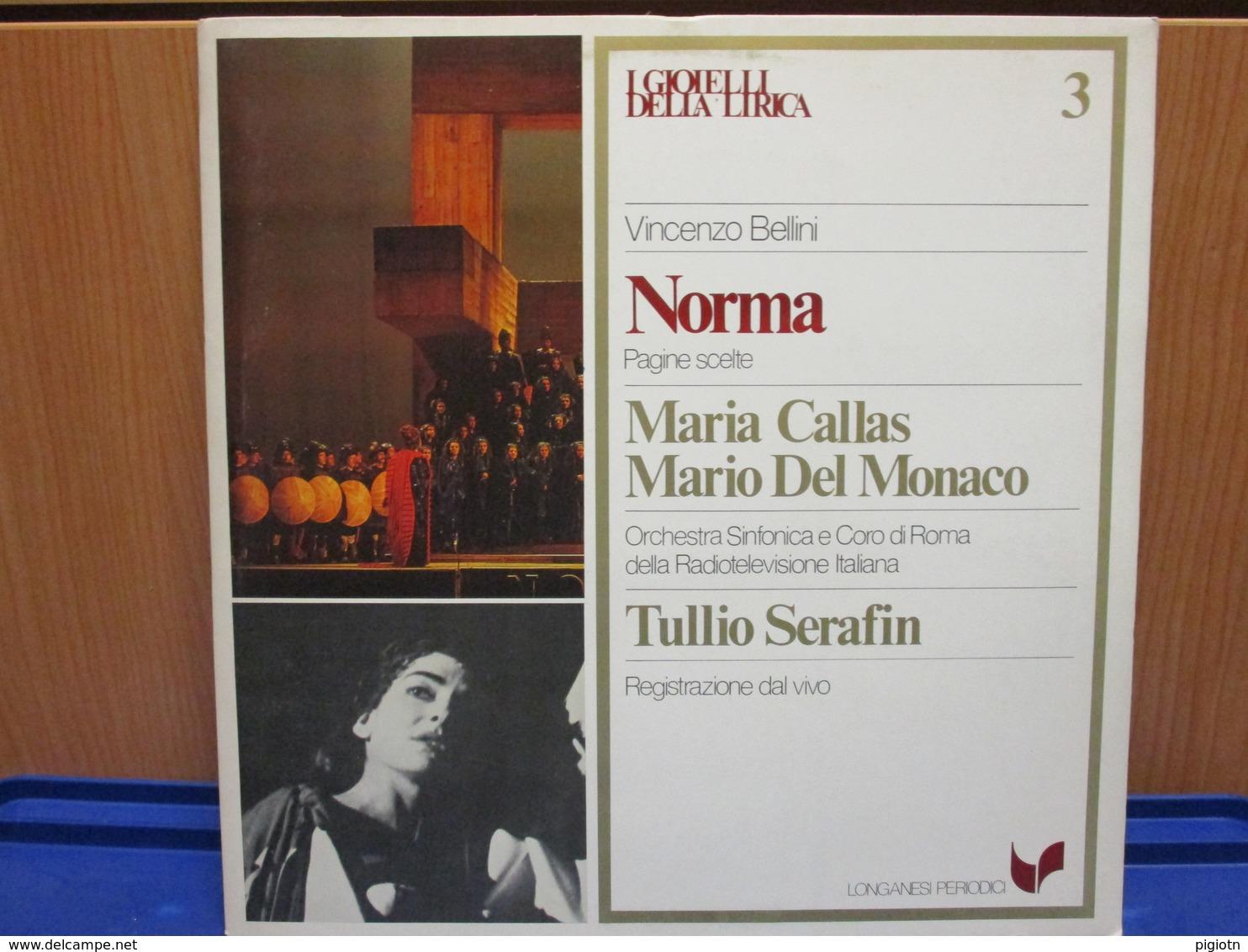 LP038-I GIOIELLI DELLA LIRICA -NORMA- N. 3 - MARIA CALLAS-MARIO DEL MONACO - Opera