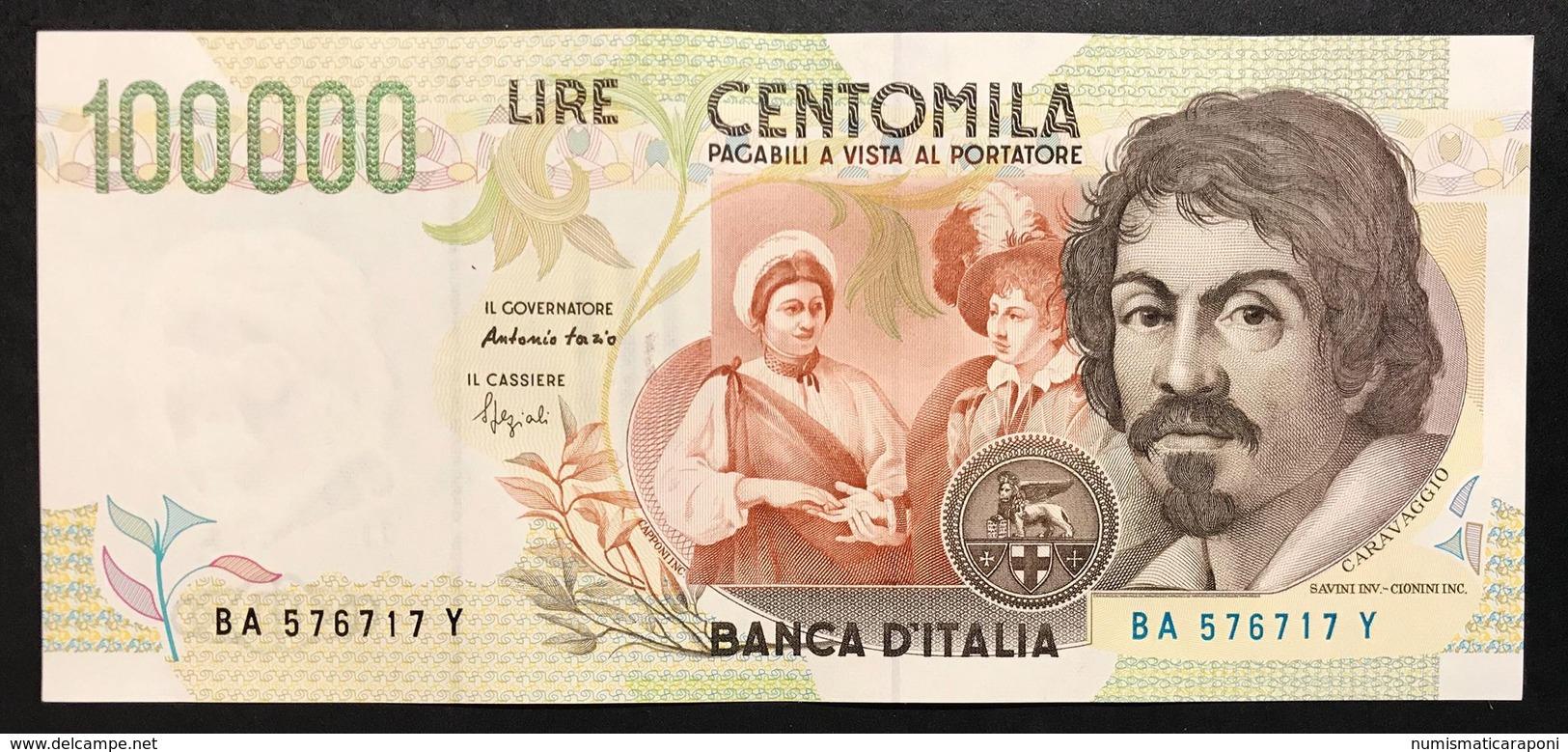 100000 Lire CARAVAGGIO 2° TIPO SERIE A 1994 Sup LOTTO 1596 - [ 2] 1946-… : Repubblica
