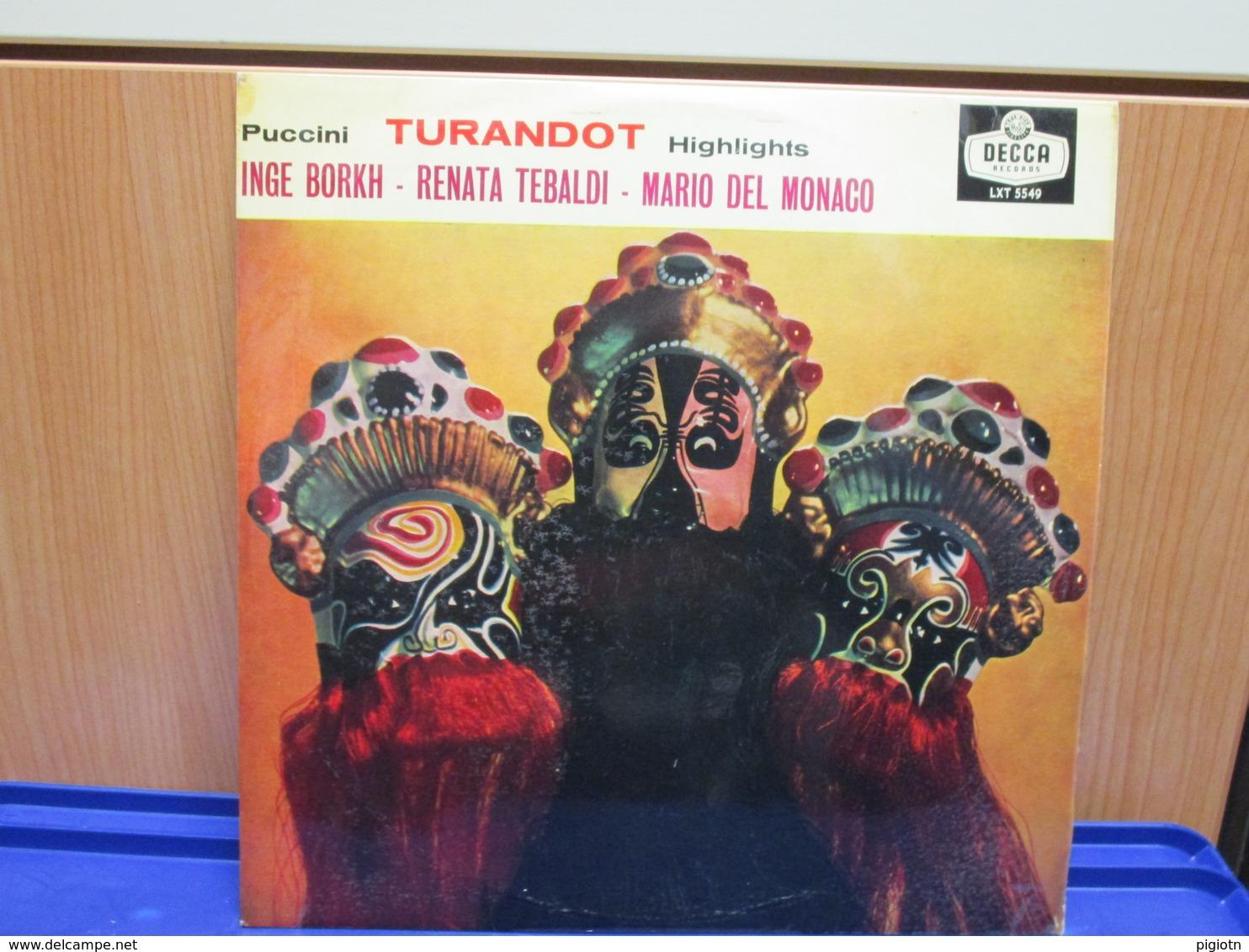 LP052-TURANDOT HIGHLIGHTS - INGE BORKH-RENATA TEBALDI-MARIO DEL MONACO - Oper & Operette