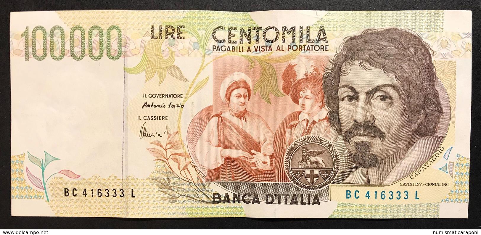 100000 Lire CARAVAGGIO 2° TIPO SERIE C 1995  LOTTO 1620 - 100.000 Lire