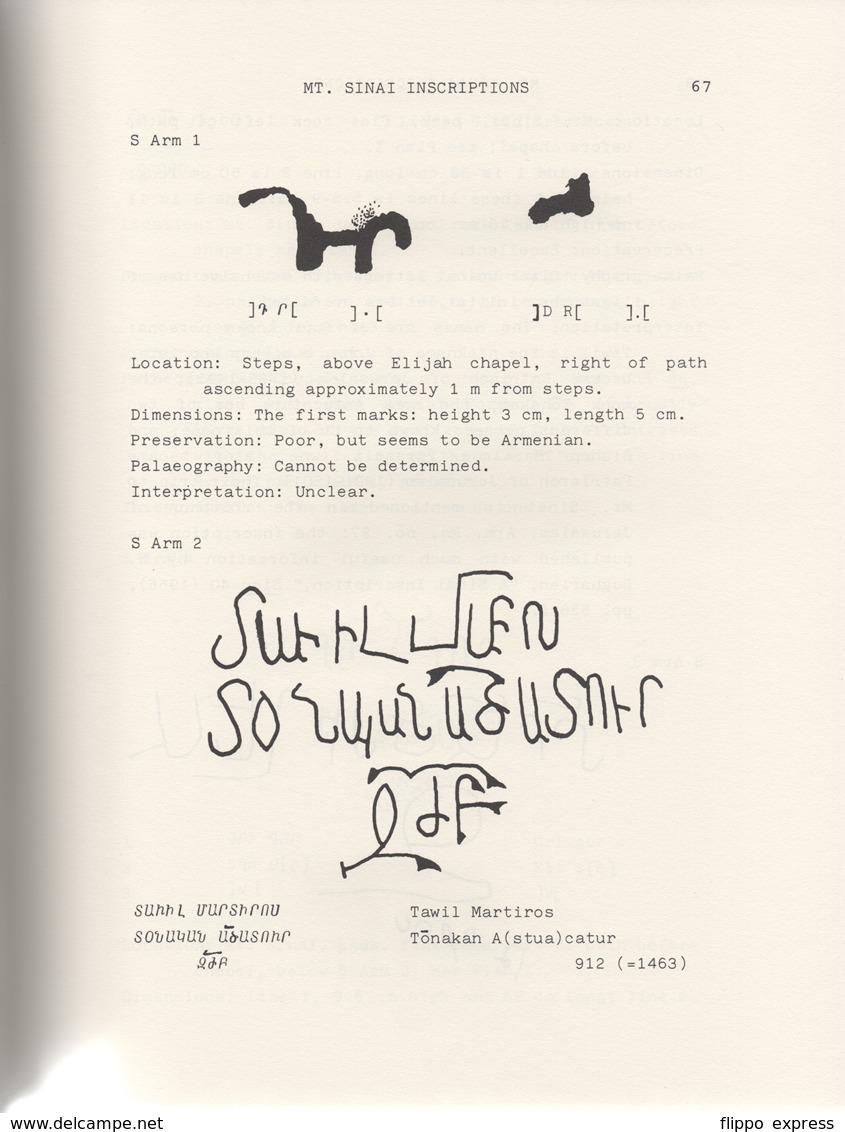 Egypt: The Armenian Inscriptions From The Sinai - Boeken, Tijdschriften, Stripverhalen