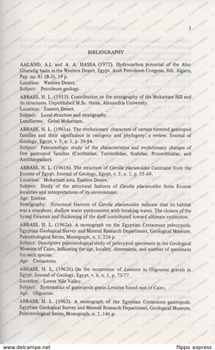 Egypt: The Geology Of Egypt, An Annotated Bibliography. - Boeken, Tijdschriften, Stripverhalen