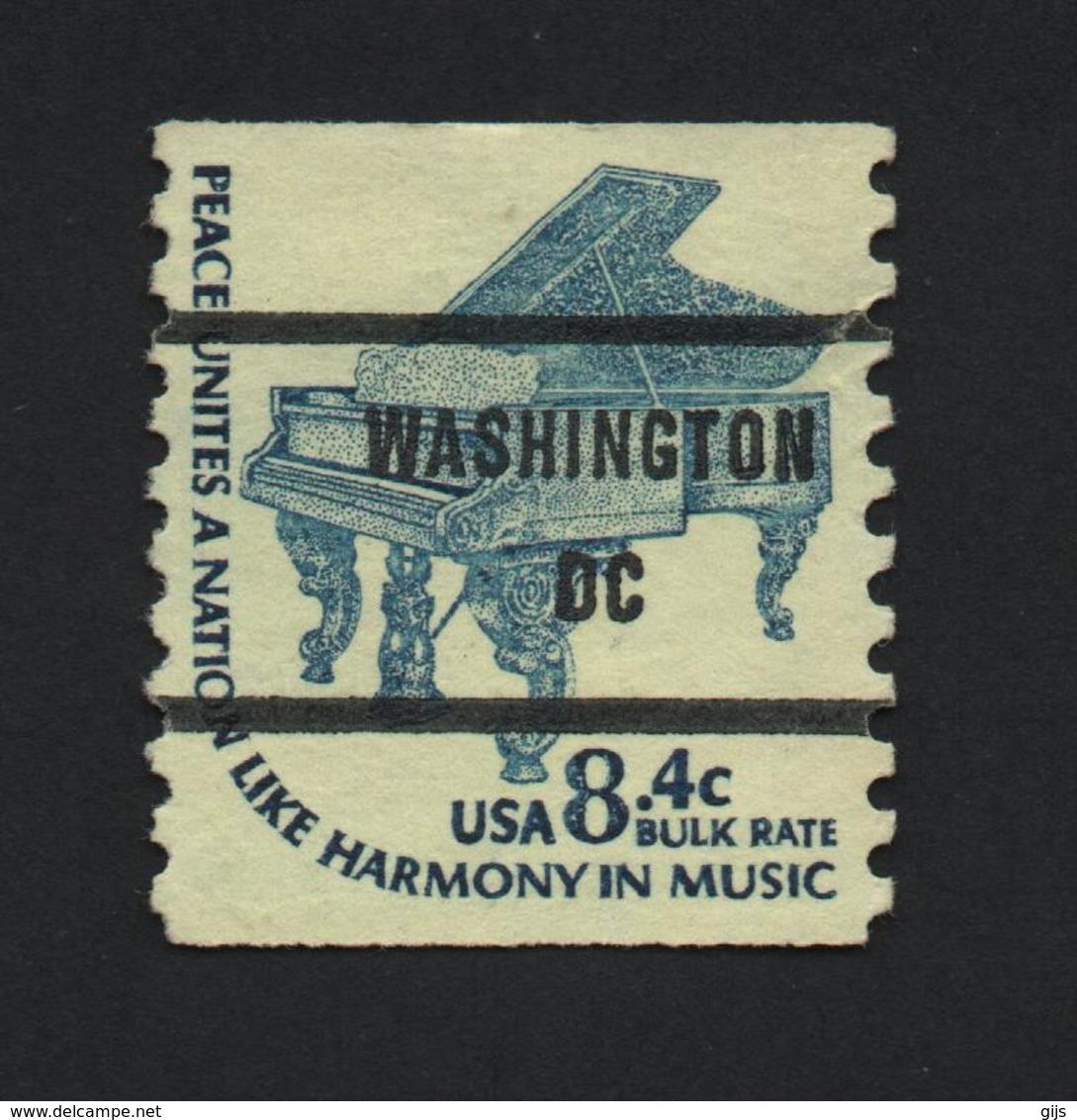 USA 1251 SCOTT 1615C WASHINGTON DC - Prematasellado