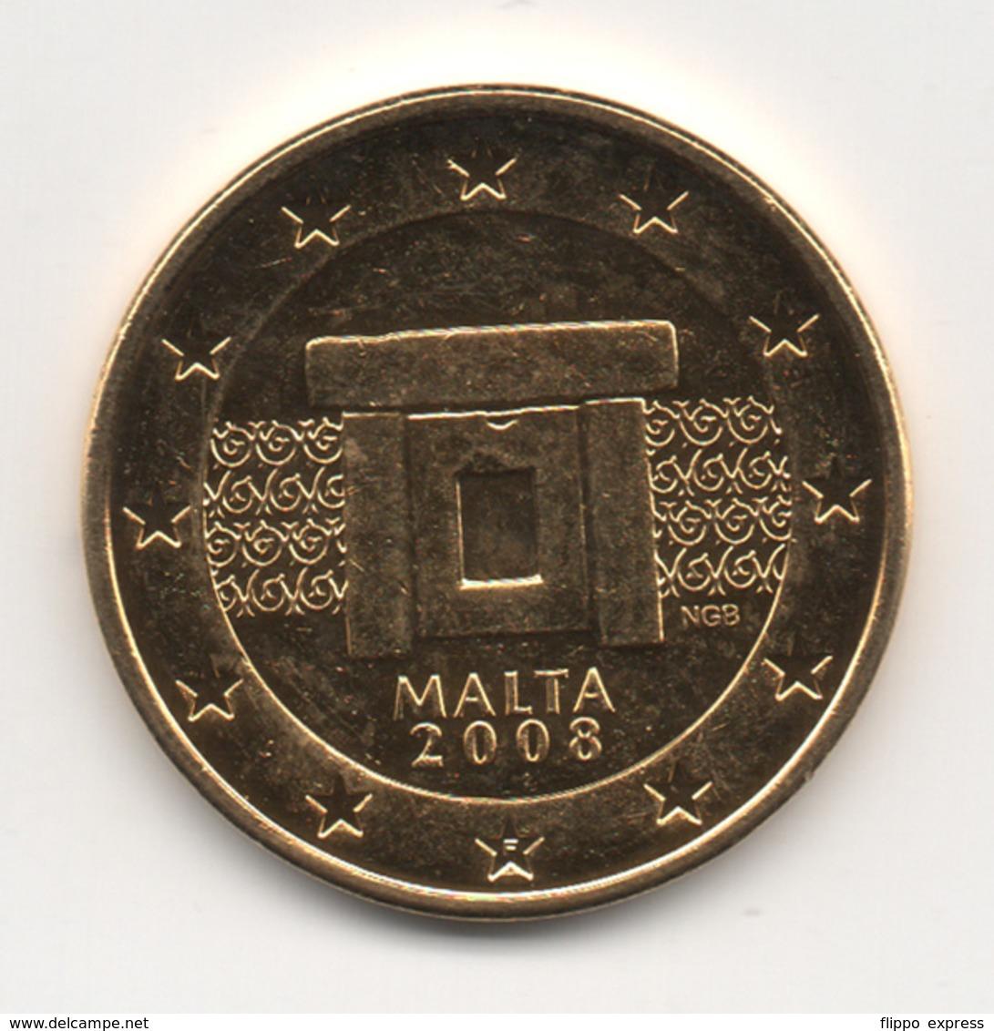 Malta, 2008, 5 Euro Cent, 24K Gold-Plated, UNC - Malte