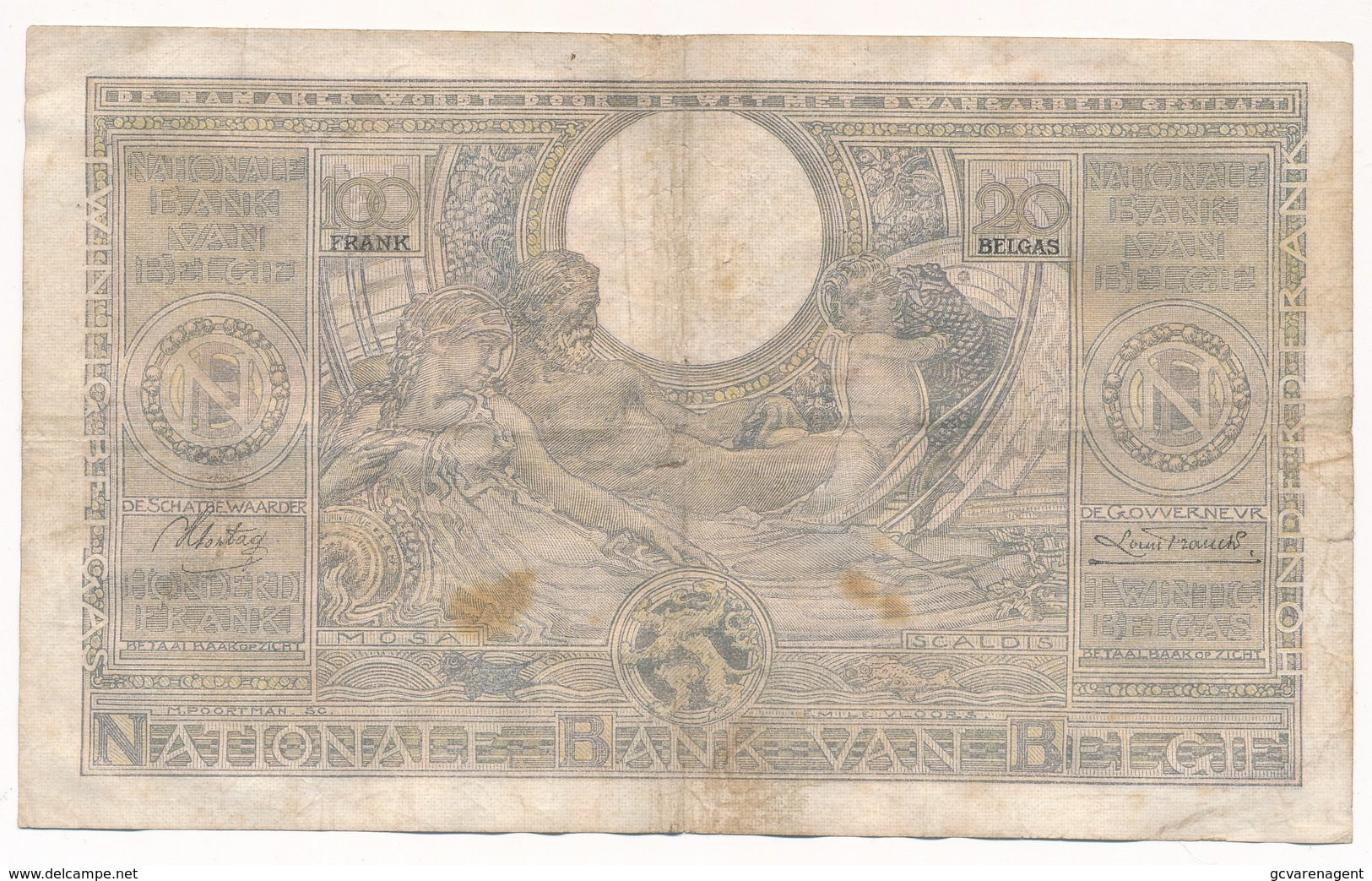 BELGIQUE 100 FRANCS-20 BELGAS 1936  - 2 SCANS - [ 2] 1831-... : Belgian Kingdom