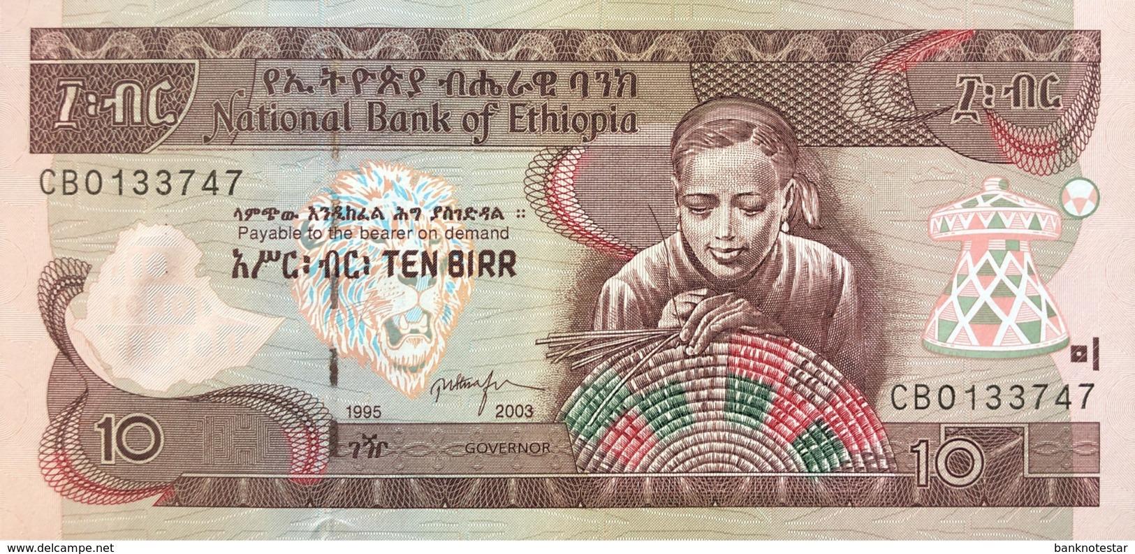 Ethiopia 10 Birr, P-48c (2003) - UNC - Ethiopie