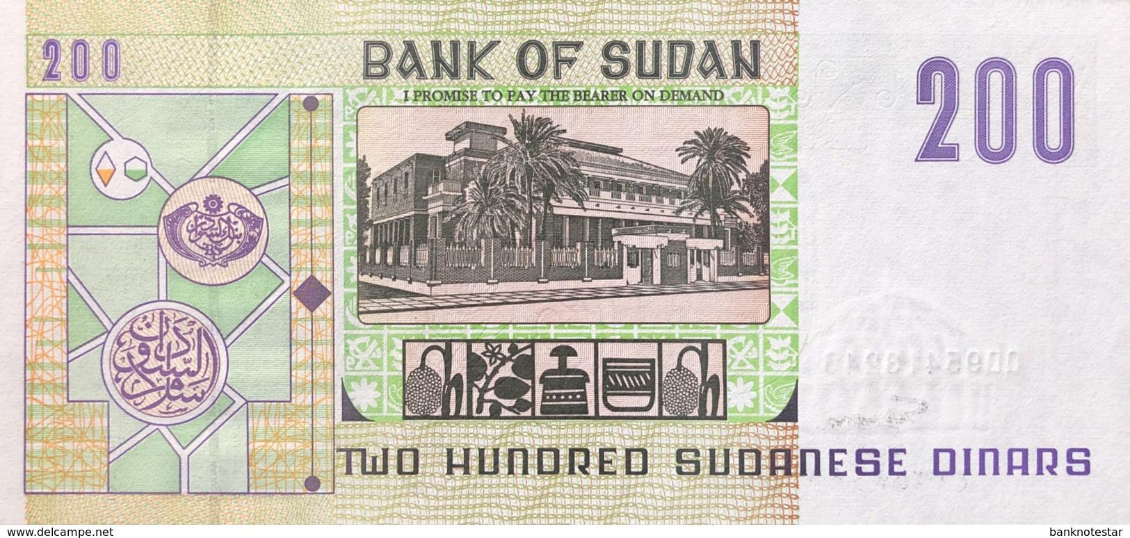 Sudan 200 Pounds, P-57b (1998) - UNC - Soudan