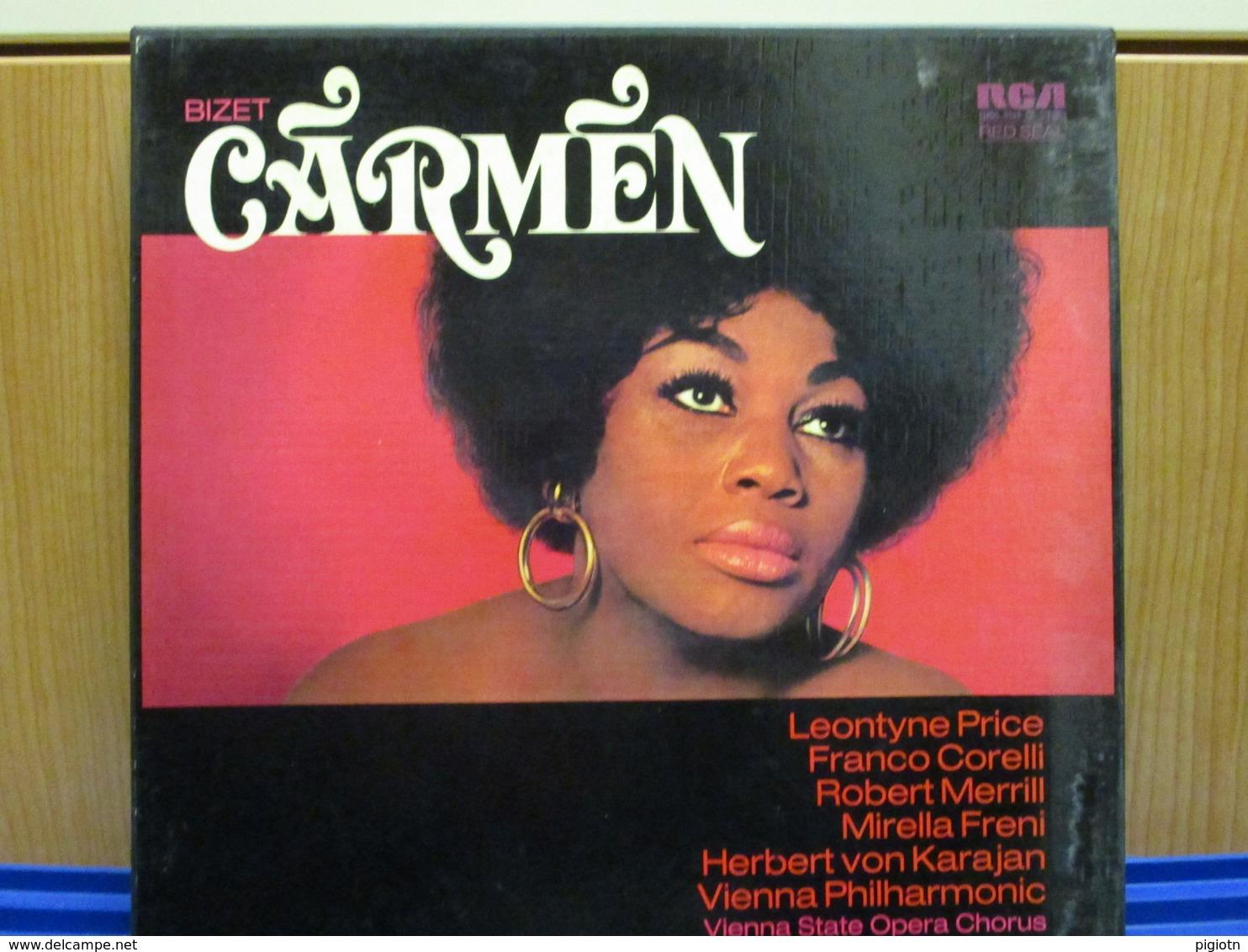 LP115 - COFANETTO 3 LP + LIBRETTO -CARMEN -LEONTYNE PRICE-FRANCO CORELLI-ROBERT MERRIL-MIRELLA FRENI - Oper & Operette