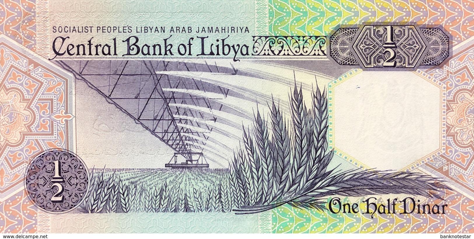 Libya 1/2 Dinar, P-53 (1990) - UNC - Signature 6 - Libye